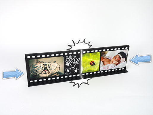 3D Puzzle Film-strip photo frame MovieWall plug-in-system