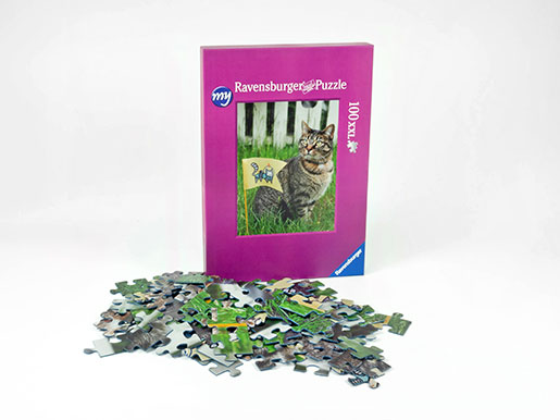 100 pieces photo puzzle box and puzzle pieces