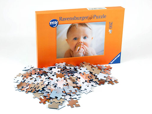 200 pieces photo puzzle box and puzzle pieces